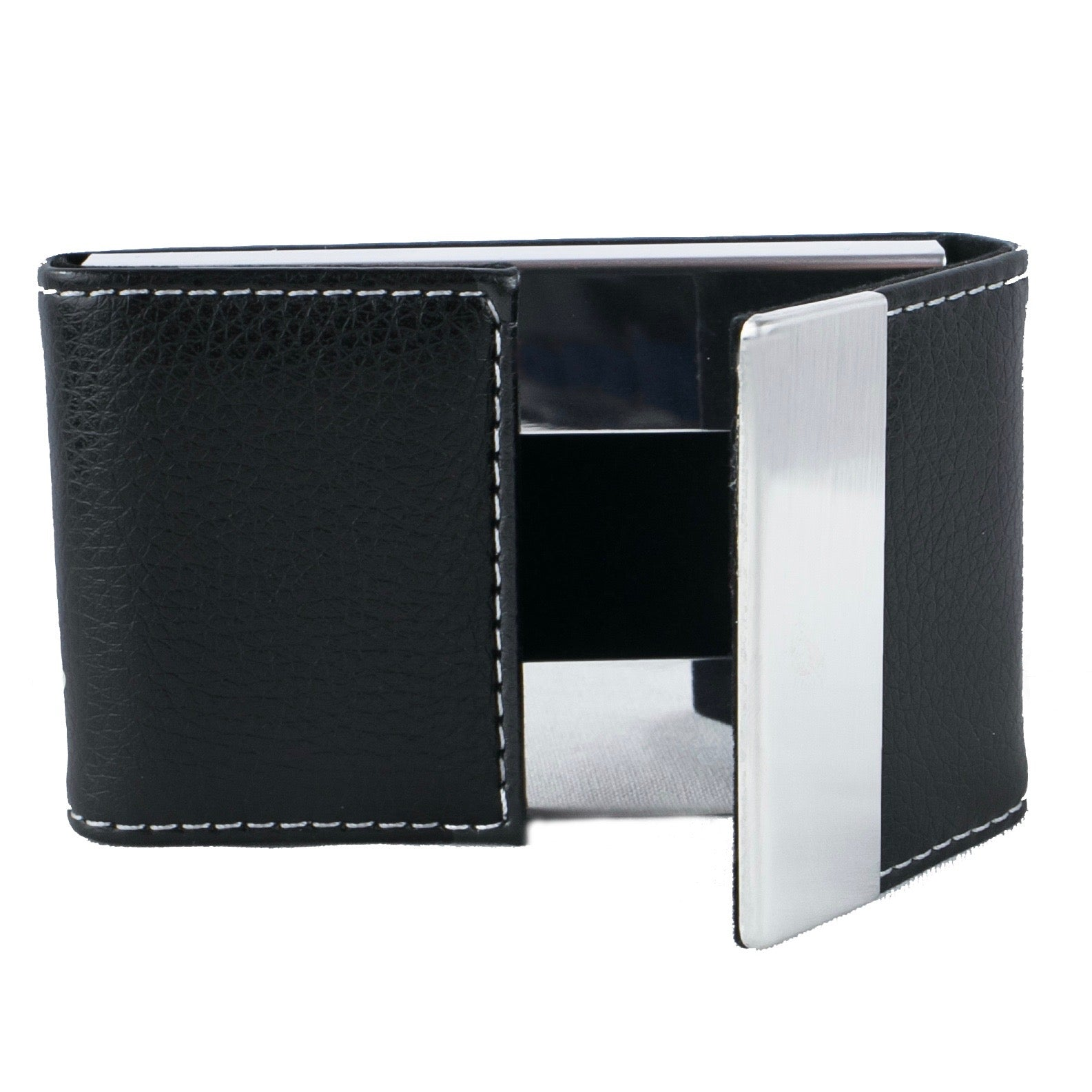 Business Card Holder - PU Leather & Stainless Steel – Nicestile USA