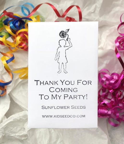 "Unique Party Favors-An Eco-Friendly way to say ""Thank You!""-Sunflower Seed Pack Party Favors"
