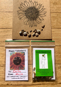 Valentine's Day Sunflower Seed Packs