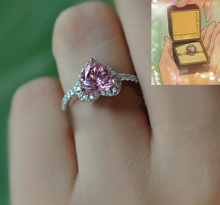 custom rose lizjewelry with stone carat diamonds engagement ring by diamo moon rings gold