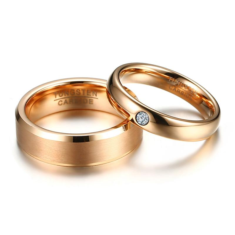 jewelry couple meaeguet color free engagement ring for wedding products rose set women carbide engrave tungsten cz gold rings men