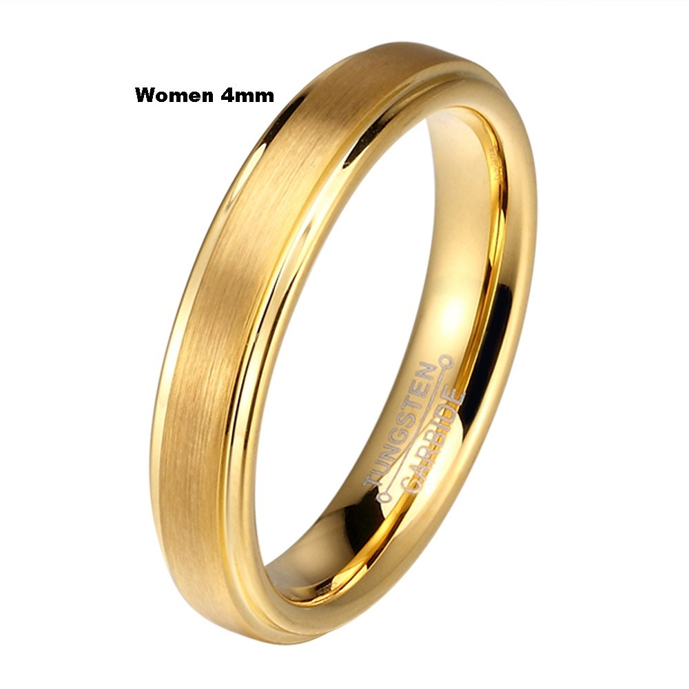 Tungsten Carbide Wedding Rings Set Free Engrave Leonis Shop