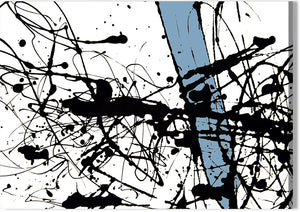 Abstract Ink with Blue