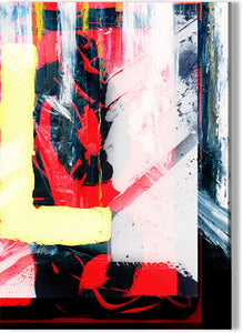 Abstract Yellow and Red