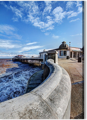 Sea Wall and Cromer Pier