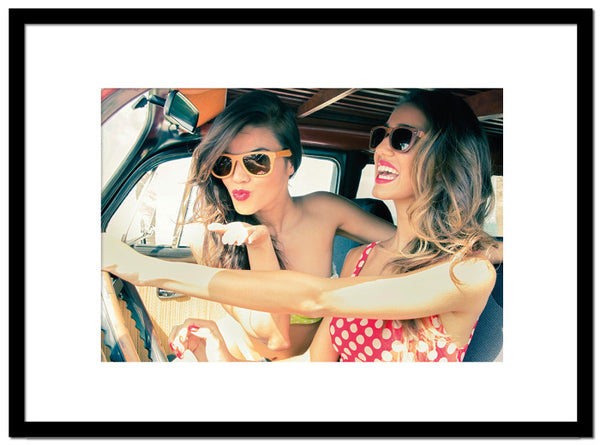 Sixties Girls in Car