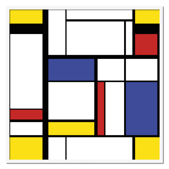 Abstract Painting in Mondrian Style