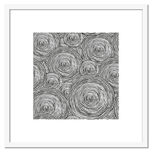 Black and White Abstract Swirls