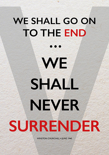 We Will Never Surrender