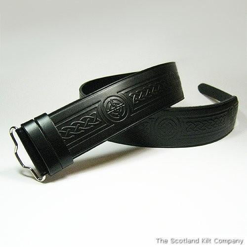 Celtic Knot Hide Embossed Belt