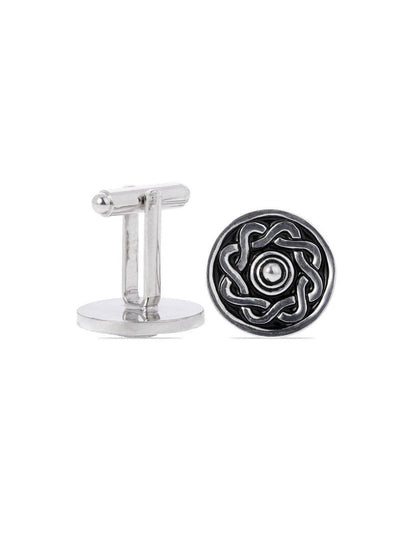 Targe Shield Pewter Cufflinks  - Chrome