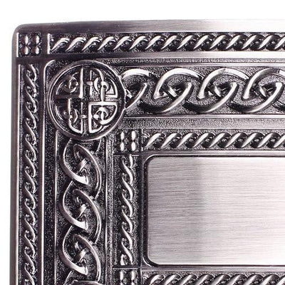 Budget Celtic Knot Work 4 Dome Dress Belt Buckle Antique Finish