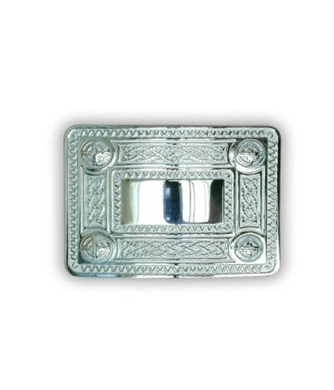 Celtic Knot Belt Buckle - Chrome Finish