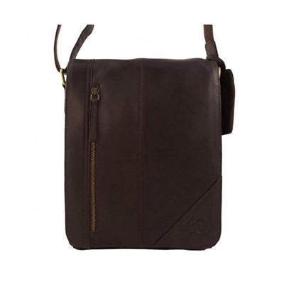New Arnicus Leather Small Cross Body Messenger Bag - Brown