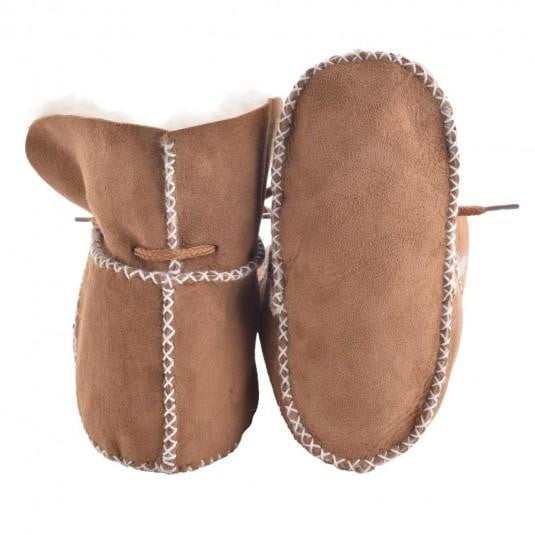 Children Booties Lace - Chestnut