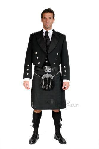 Black Isle 8 Yard Kilt, Traditionally Hand Stitched