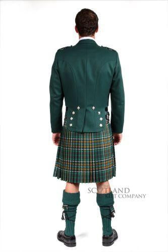 Green Prince Charlie Jacket & vest, Scottish Made
