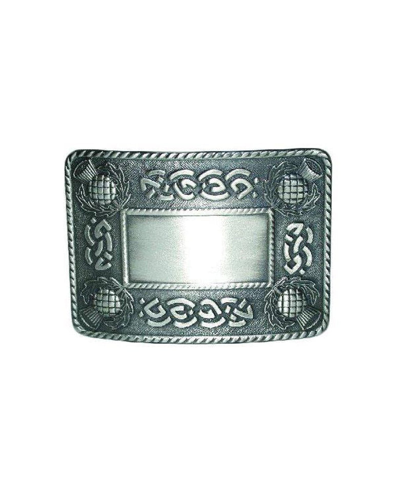 Celtic Thistle Belt Buckle - Antique Finish
