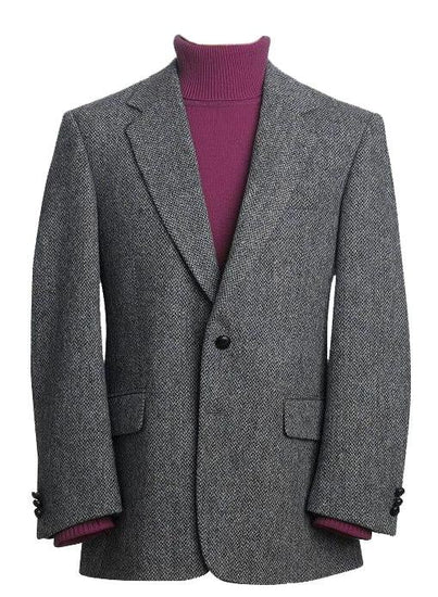 Mens Classic Genuine Scottish Harris Tweed Wool Blazer Jacket - Dalmore