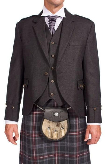 Tweed Argyle Jacket with 5 Button Vest - Instock