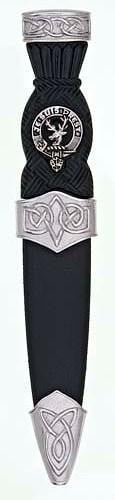 Clan Crest Celtic Sgian Dubh, Plain Top Chrome - Made to Order