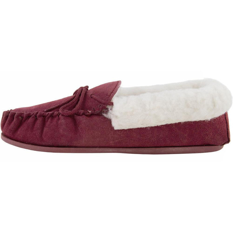 Ladies Moccasin - Crimson