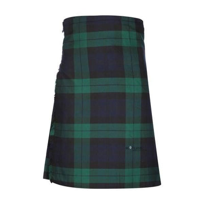 Men's Kilt, 8 Yard Polyviscose - Black Watch Modern