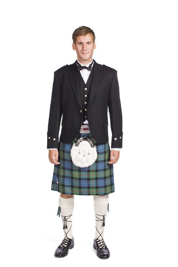 Economy Argyle Jacket Kilt Outfit with 5 Yard, 16oz Bespoke Wool Kilt