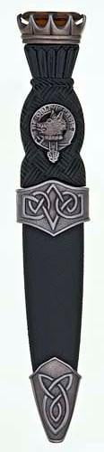Clan Crest Celtic Sgian Dubh, Antique Stone Top - Made to Order