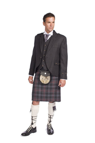 Hebridean Heather 8 Yard Kilt, Traditionally Hand Stitched