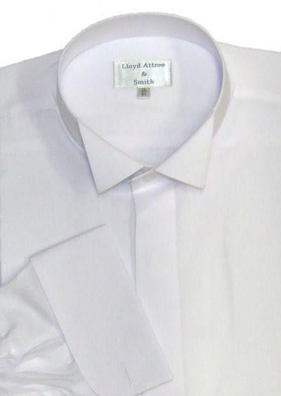 Wing Collar Formal Dress Shirt - White