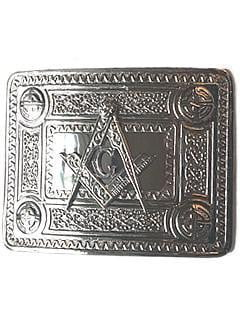 Masonic Celtic Knot Belt Buckle - Chrome Finish