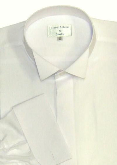 Wing Collar Formal Dress Shirt - Ivory
