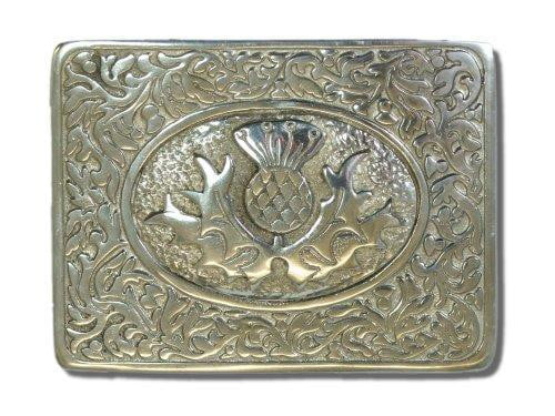 Thistle Pewter Belt Buckle