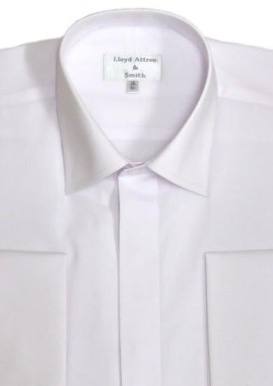 Standard Collar Formal Dress Shirt - White
