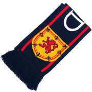 Navy Scotland Scarf with Rampant Lion Shield