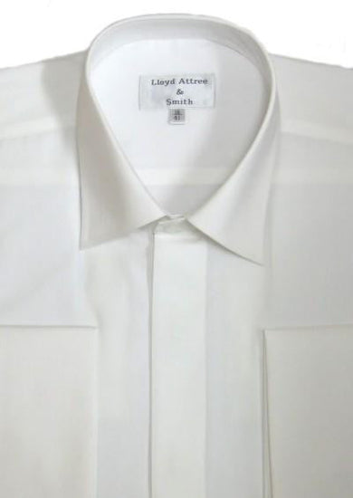 Standard Collar Formal Dress Shirt - Ivory