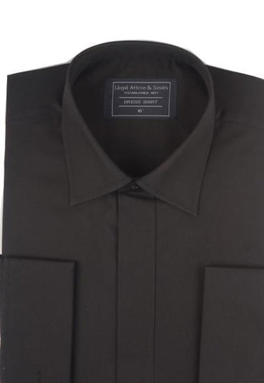 Standard Collar Formal Dress Shirt - Black