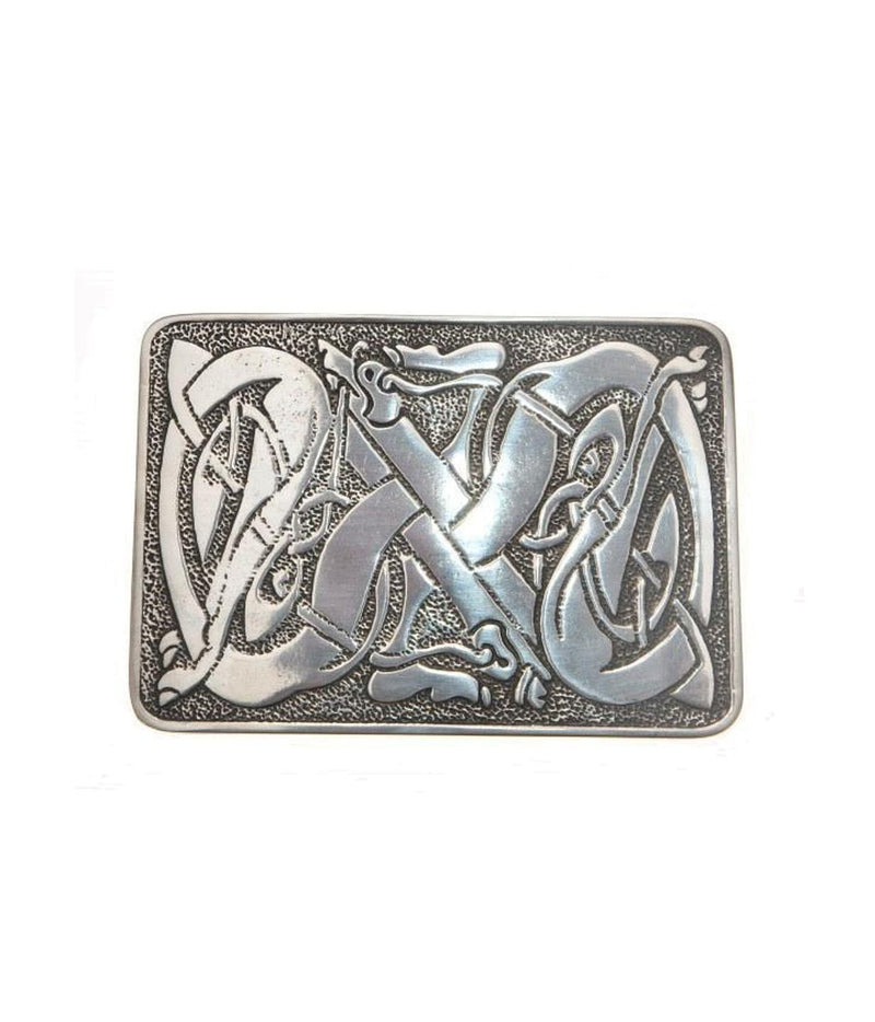 Celtic Dog Deluxe Pewter Kilt Belt Buckle