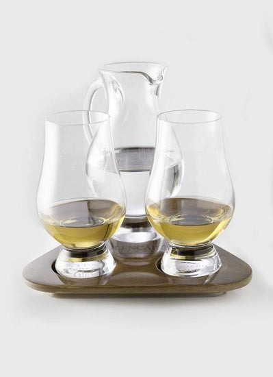 Glencairn Whisky Glass & Jug Flight Tasting Tray