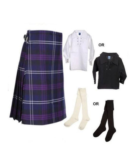 Childrens 3 Piece Kilt Outfit - 4 Tartans