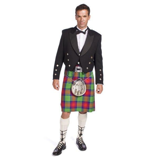 Economy Prince Charlie Jacket Outfit with 16oz 8 Yard Handmade Wool Kilt