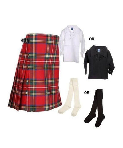 Royal Stewart Childrens 3 Piece Kilt Outfit
