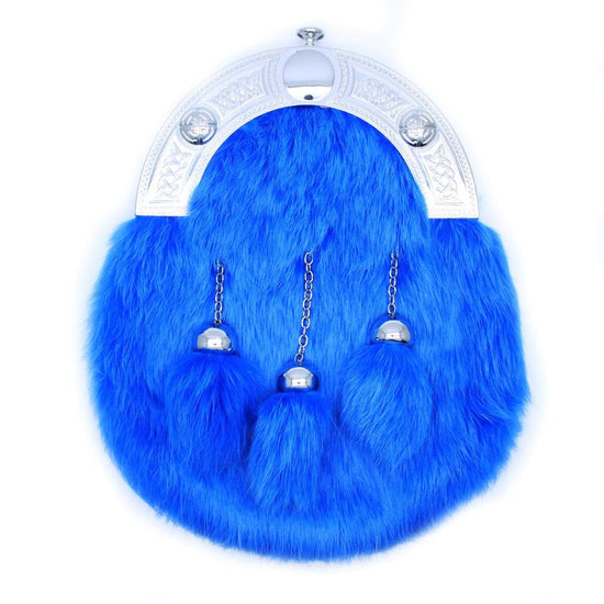 Full Dress Chrome Celtic Knot - Light Blue Rabbit Fur