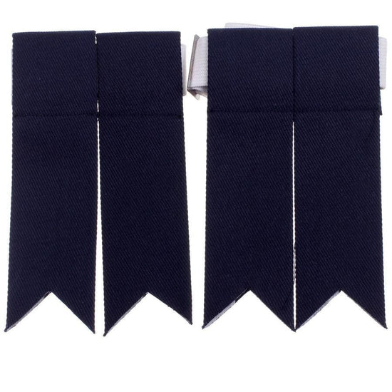 100% Cotton Kilt Flashes - Navy