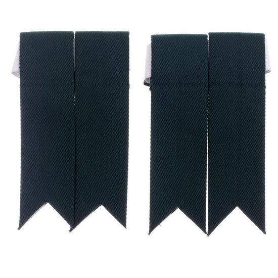 100% Cotton Kilt Flashes - Bottle Green