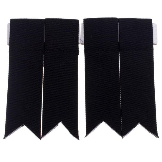 100% Cotton Kilt Flashes - Black