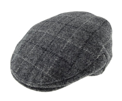 Harris Tweed Ladies One Size Cap - Light Grey Check
