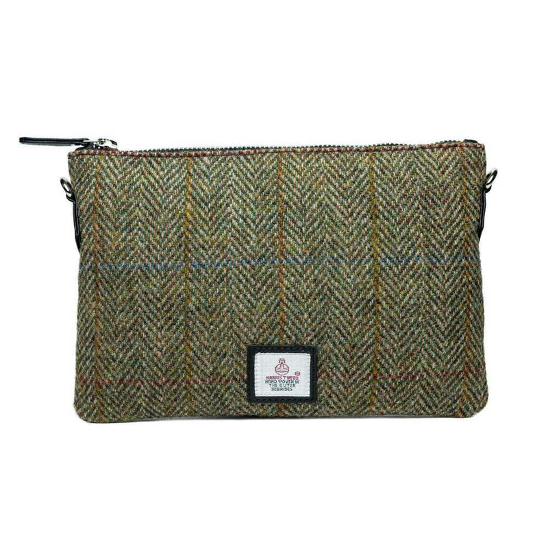 Authentic Scottish Harris Tweed - Shoulder Bag - Country Green