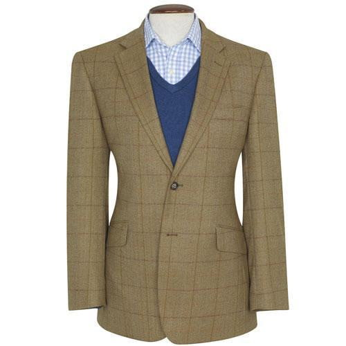 Brook Taverner - 100% Wool Osprey Jacket - Oatmeal Check Tweed